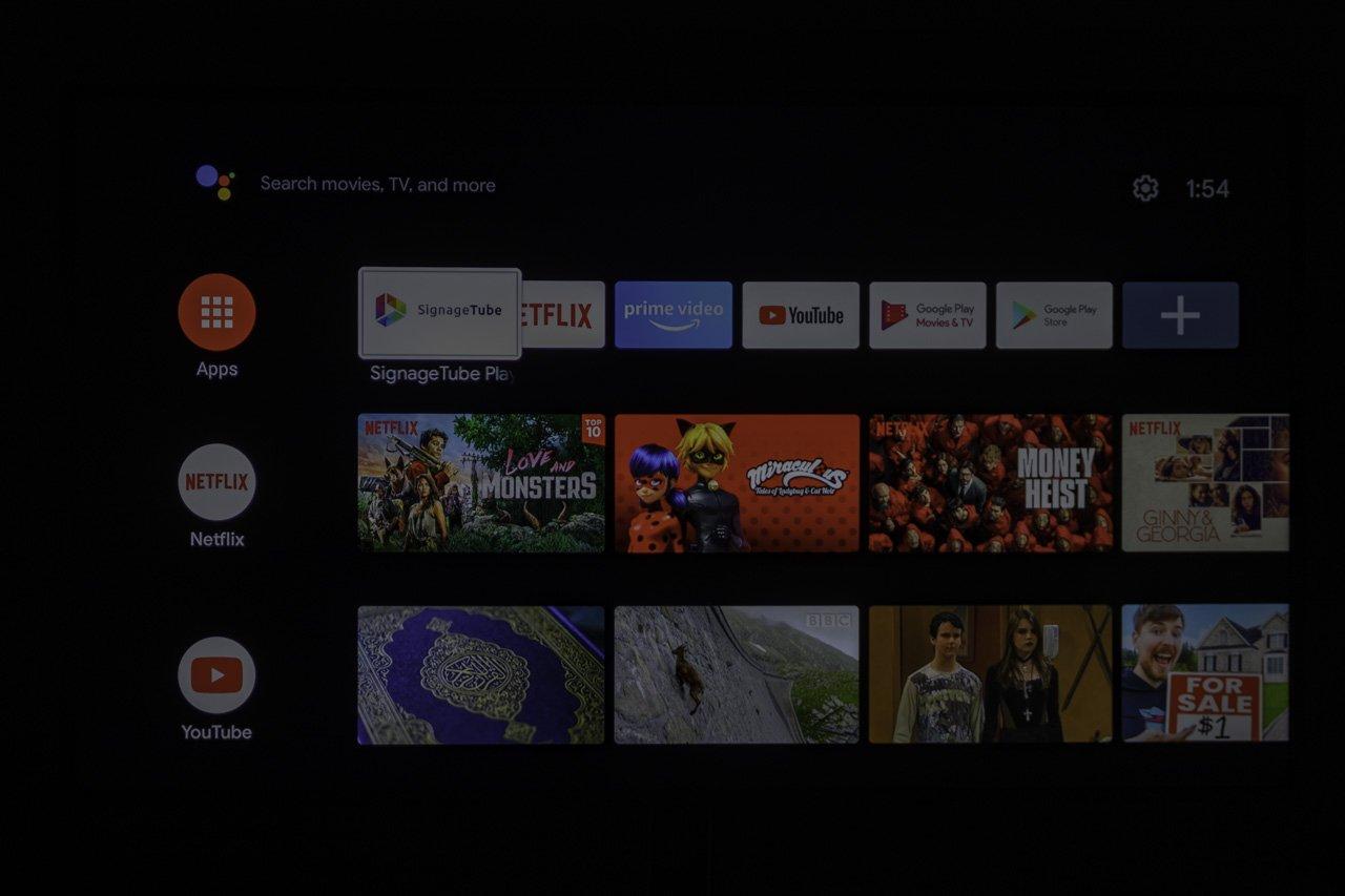 favorite digital signage app set on channel