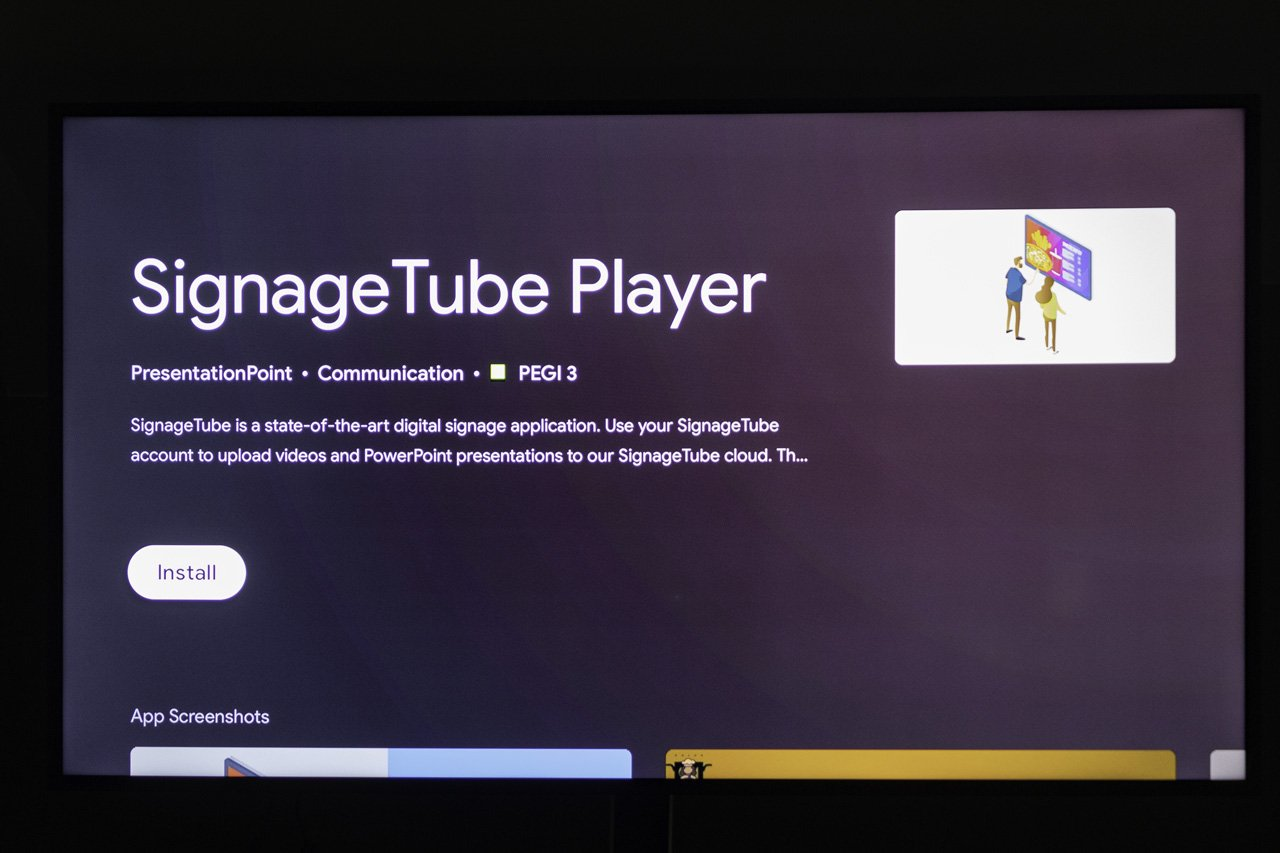 Install the signagetube digital signage app
