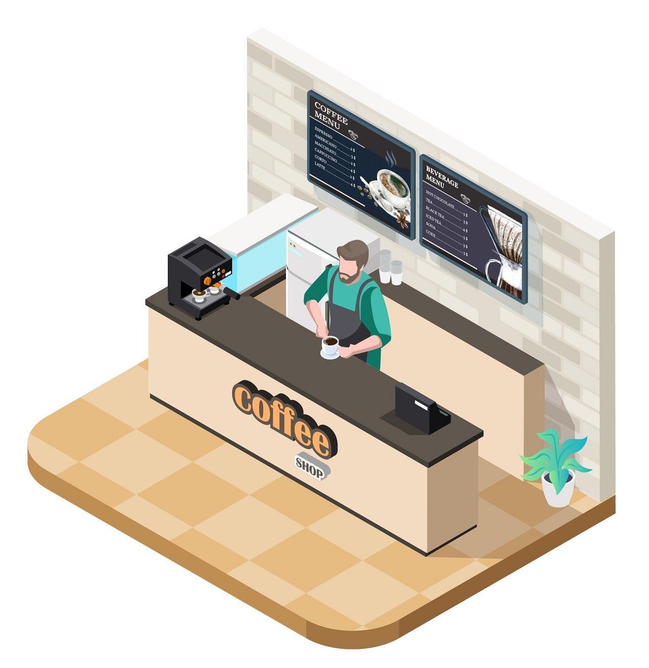 Digital Coffee Shop Menu Board