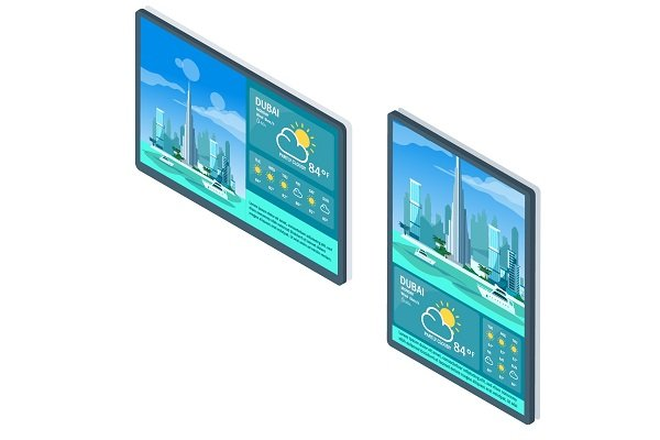 Digital Signage Portrait vs Landscape Orientation