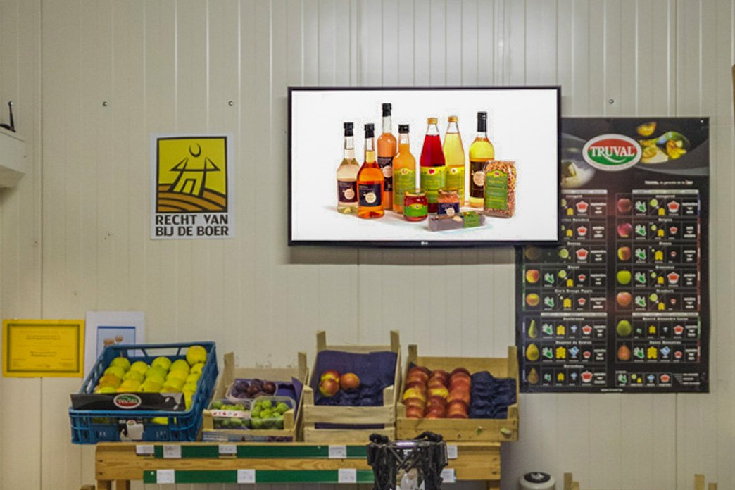 fruit farm digital signage problem solving